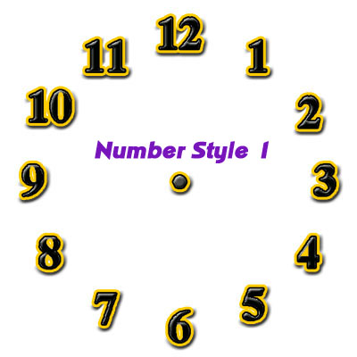 number style 1